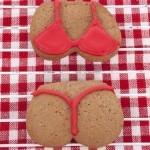 Red G'string Bikini Sugar Cookie
