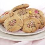 Crisp sweet chocolate chip cookies