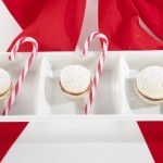 Christmas Macaron Trio with Candy Canes