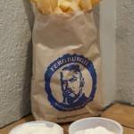 Ferburger Fries with Garlic Aioli