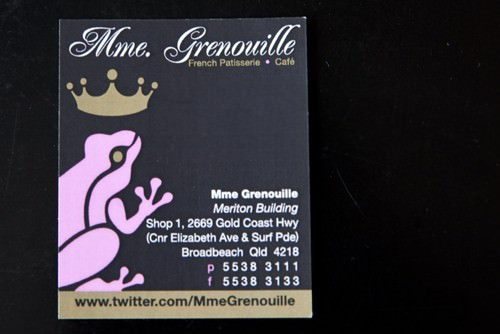 Mme Grenouille Business Card