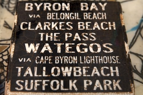 Byron Beaches Sign