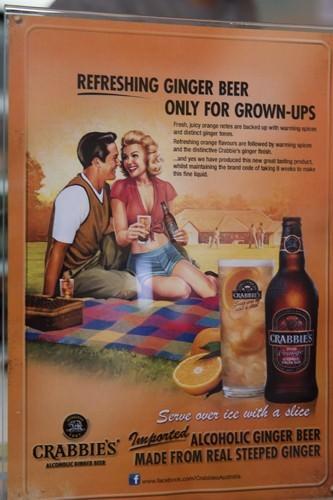 Image of Crabbies Spice Orage Ginger Beer Signage