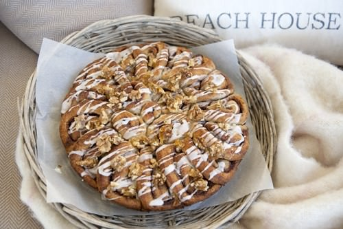 Easter Treats - Glazed Cinnamon Scrolls