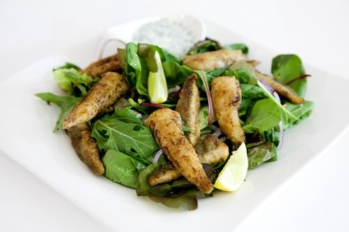 Julie Goodwins Lemon Caper Flathead Salad