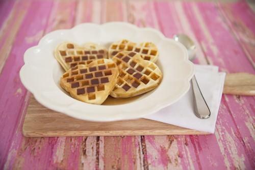 Heart-Shaped-Waffles