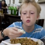 Lachlan with Fried Rice & Dumplings