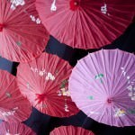Pretty Umbrellas hanging in Chinatown Singapore