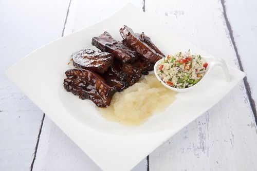 Sticky Pork Ribs with Apple Sauce