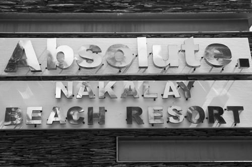 Absolute Nakalay Beach Resort Signage