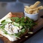 Poached Chicken and Cashew Sandwich