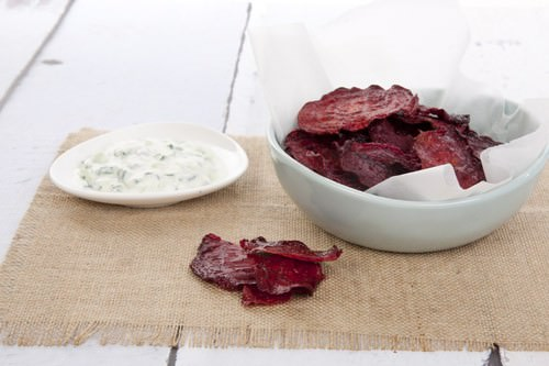 Beetroot Chips and Dips