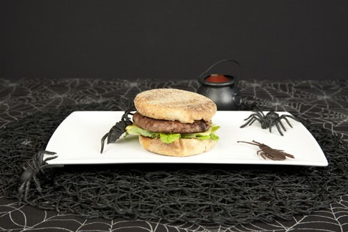 Halloween Hamburgers.Simple Spooky Halloween Burgers Meat And Travel