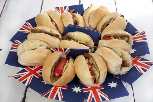 Australia Day Hot Dogs