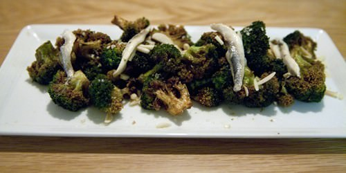 Brocoli cand White Sardine Side