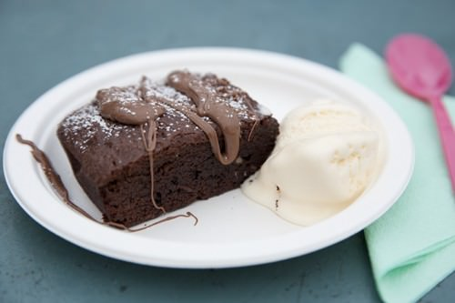 Chocolate Cherry Fudge Brownie