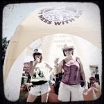 Applying Chap Stick @ Sun Mum's Tent