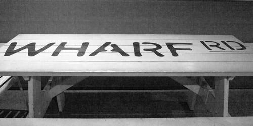 Wharf Rd Restaurant Signage