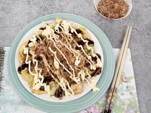 Seafood Osaka Style Okonomiyaki