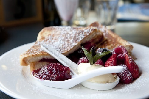 Chocolate and Raspberry Jam French Toast