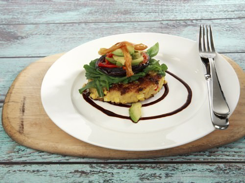 Corn and Polenta Stack