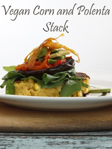 Vegan Corn and Polenta Stacks