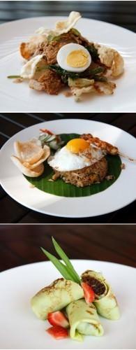 Balinese Three Course Cooking Class Menu