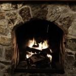 Bruny Island Accommodation Fireplace