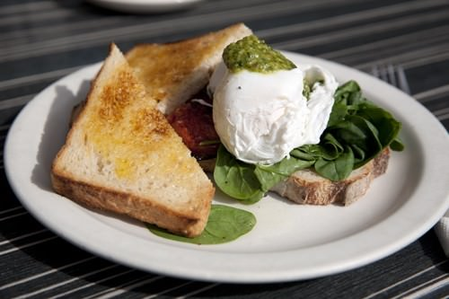 Retro Cafe Sourdough & Poached Eggs