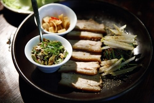 Bossam -Pork Belly Wraps