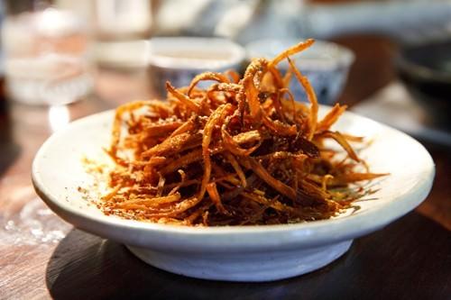 Shredded Sweet Potato w Sesame