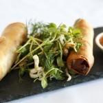 Spicy Duck Spring Rolls -Pasfields Restaurant