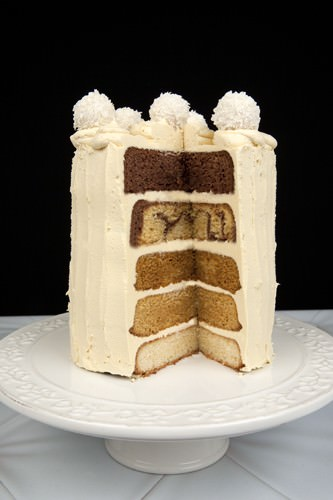 5 Layer Chocolate and Caramel Ombre Cake