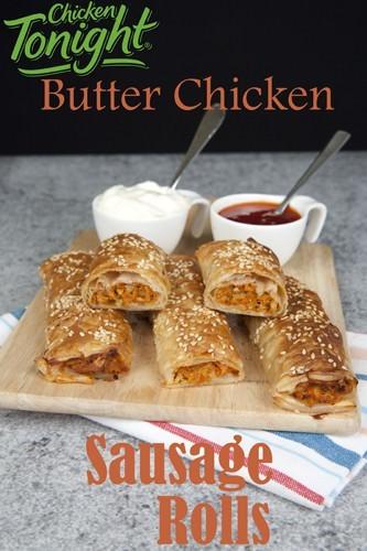 Butter Chicken Sausage Rolls