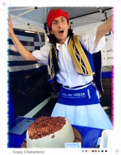Greek Dessert Stand