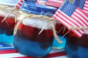 4th of July Party Jello Snacks