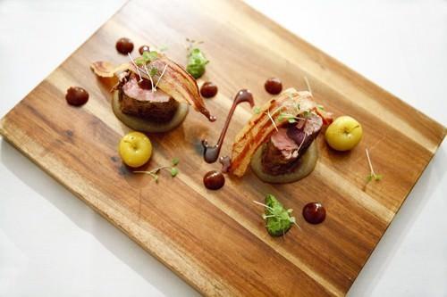 Quince Glaze Pork w Pomme