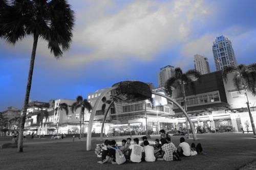 A nice park to walk at Bonifacio High Street