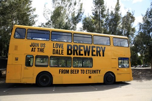 The Lovedale Brewery Bus