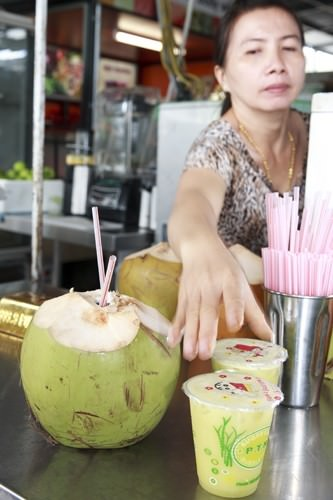 Coconut Water and Sugar Cane Juice
