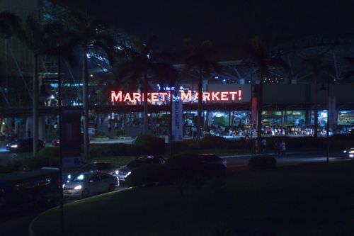A mall right across Serendra called Market! Market!