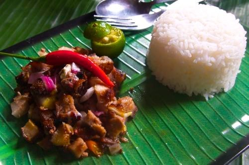 Sisig - With Rice