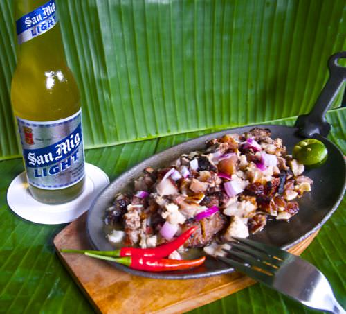 Sisig - with beer