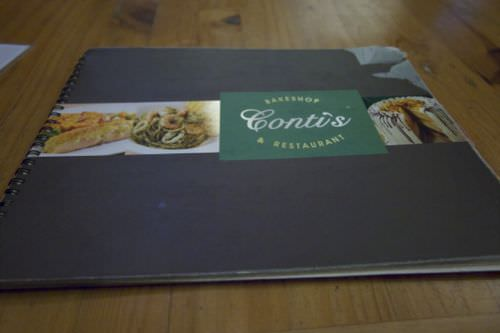 Conti Pastry Shop and Restaurant - Menu