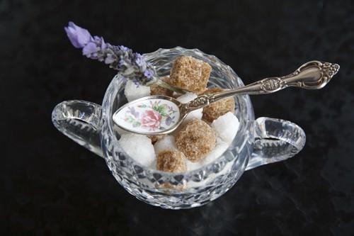 Cafe Elan Sugar Service with decorative spoon