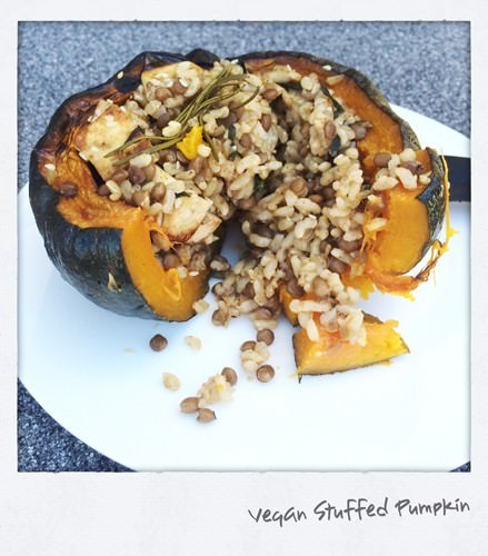 Vegan Stuffed Pumpkin
