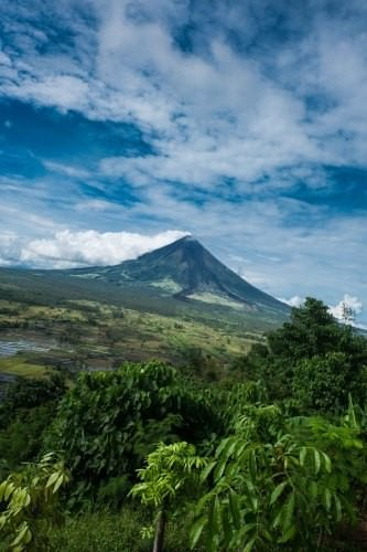 Mayon Volcano - Lignon Hills view