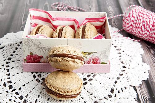 Boxed Chocolate Macarons