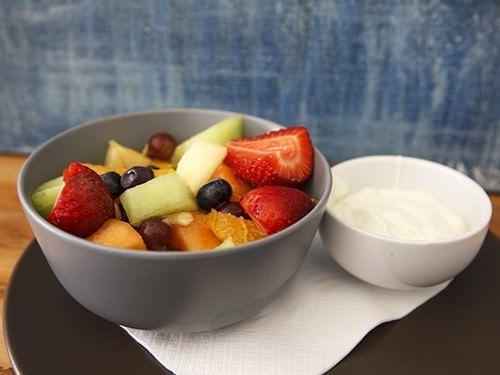 Fruit Salad and Yoghurt