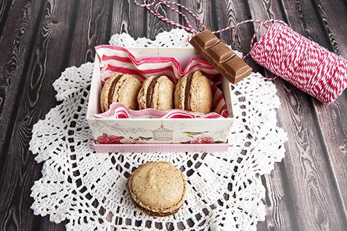 Hazelnut Chocolate Macaron